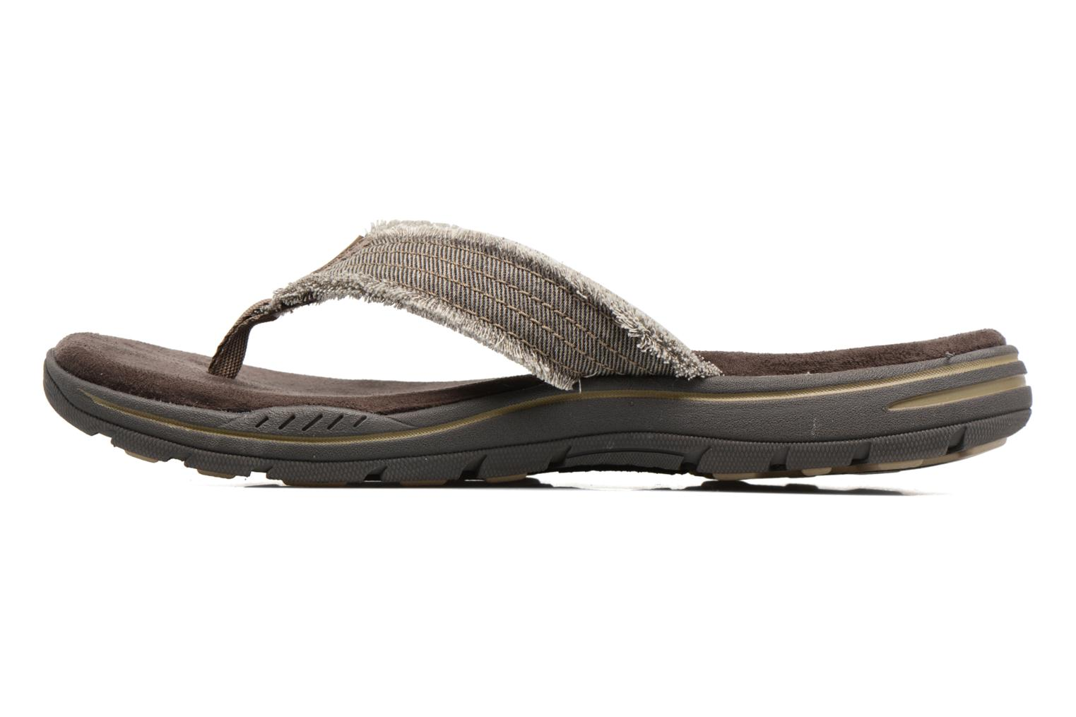Tongs Skechers Evented Arven Marron vue face