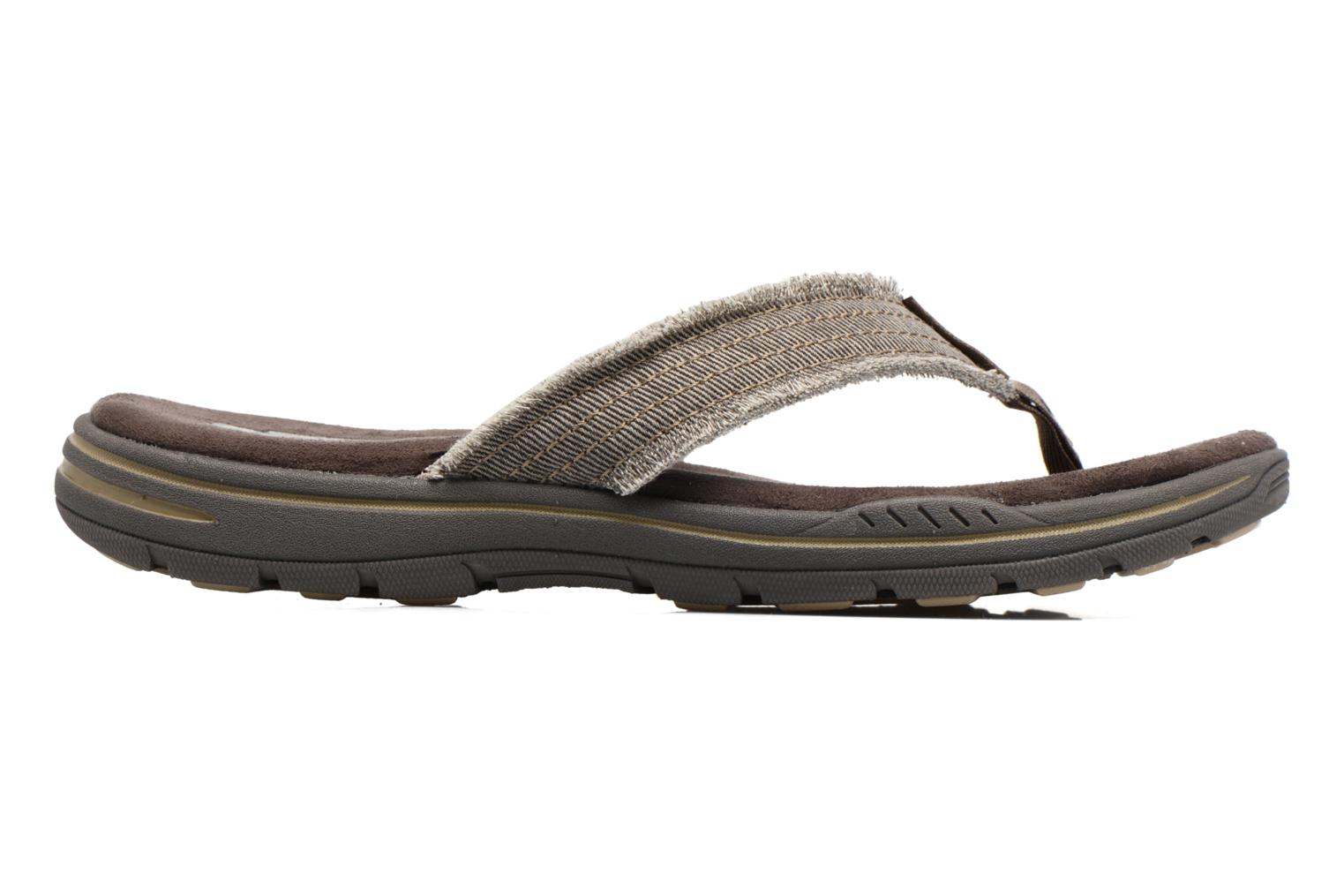 Slippers Skechers Evented Arven Bruin achterkant