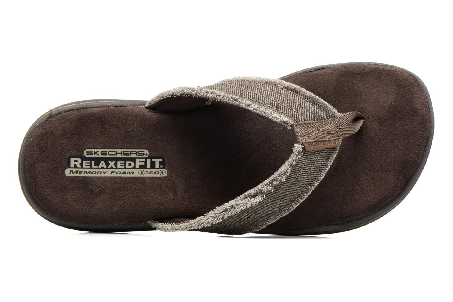 Flip flops Skechers Evented Arven Brown view from the left