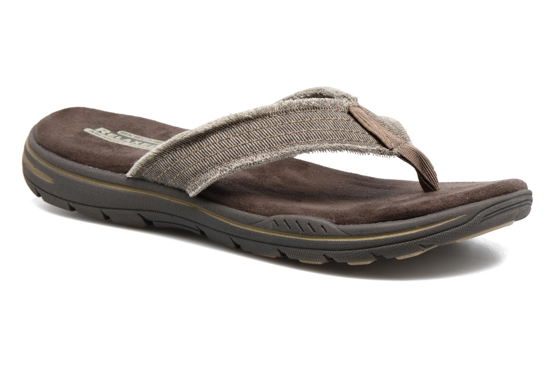Flip flops Skechers Evented Arven Brown detailed view/ Pair view