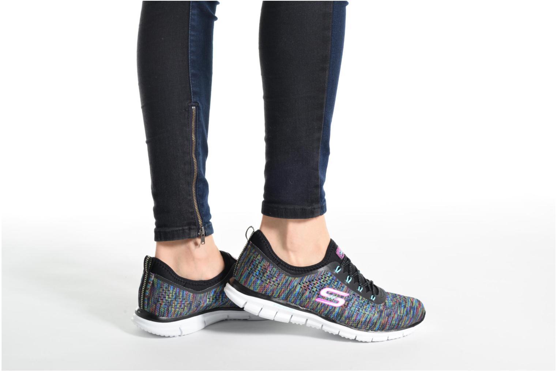 Chaussures de sport Skechers Glider Deep Space Noir vue bas / vue portée sac