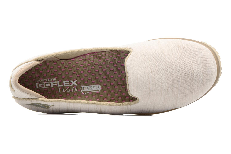 Baskets Skechers Go Mini Flex Beige vue gauche