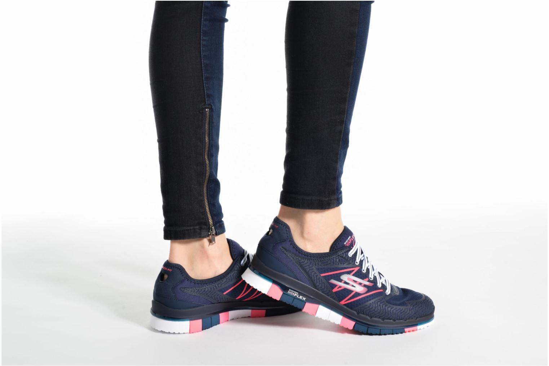 Chaussures de sport Skechers GO Flex Momentum Bleu vue bas / vue portée sac
