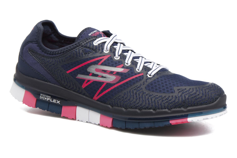 Chaussures de sport Skechers GO Flex Momentum Bleu vue détail/paire