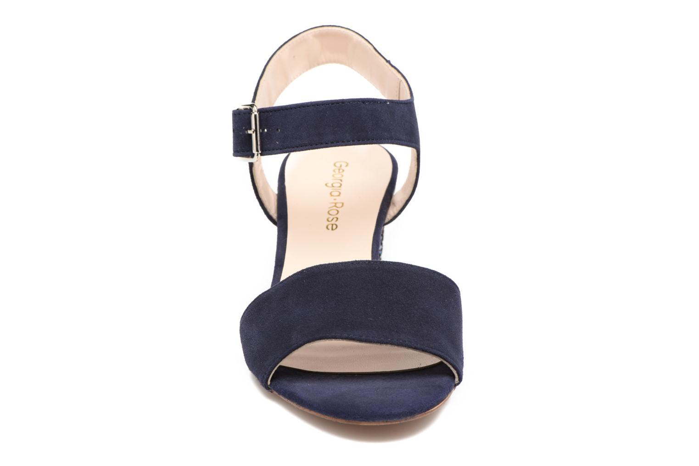 Sandales et nu-pieds Georgia Rose Anayette Bleu vue portées chaussures