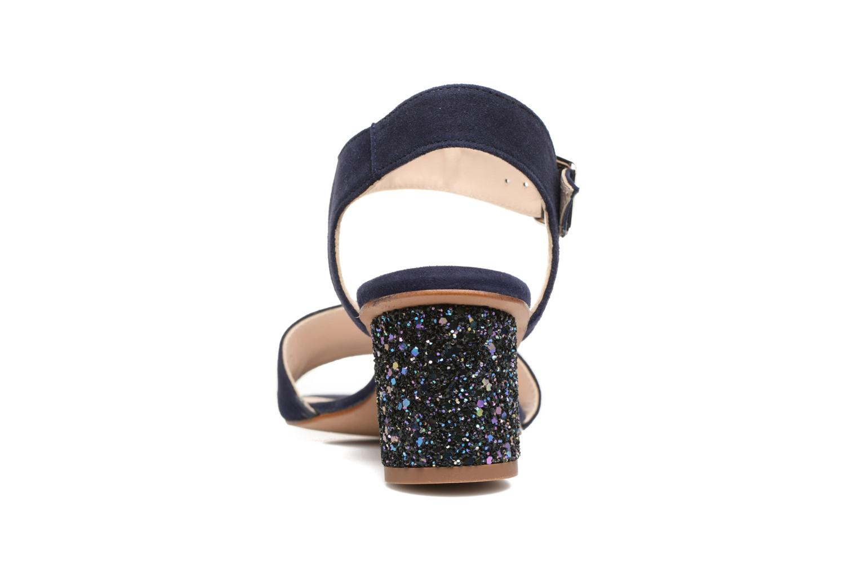 Anayette velours marine + talon glitter