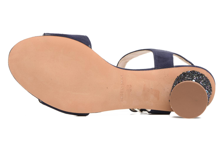 Sandales et nu-pieds Georgia Rose Anayette Bleu vue haut