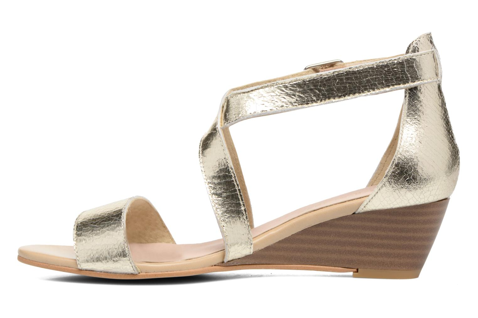 Sandals Georgia Rose Anacale Bronze and Gold front view