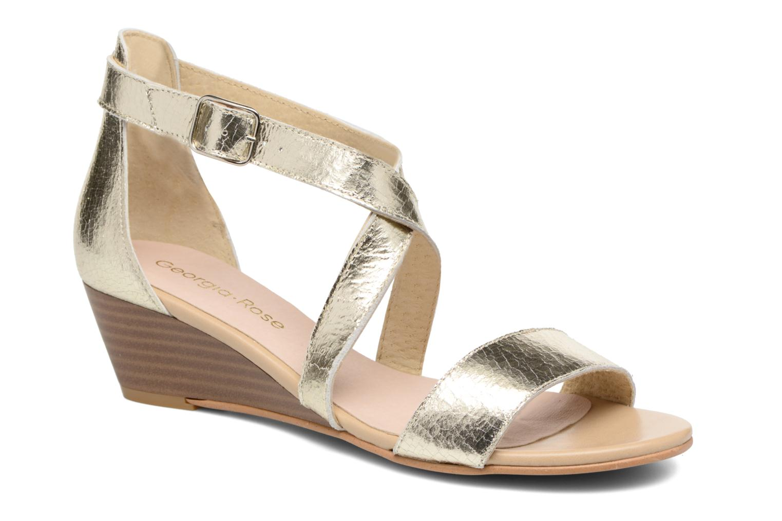 Sandals Georgia Rose Anacale Bronze and Gold detailed view/ Pair view
