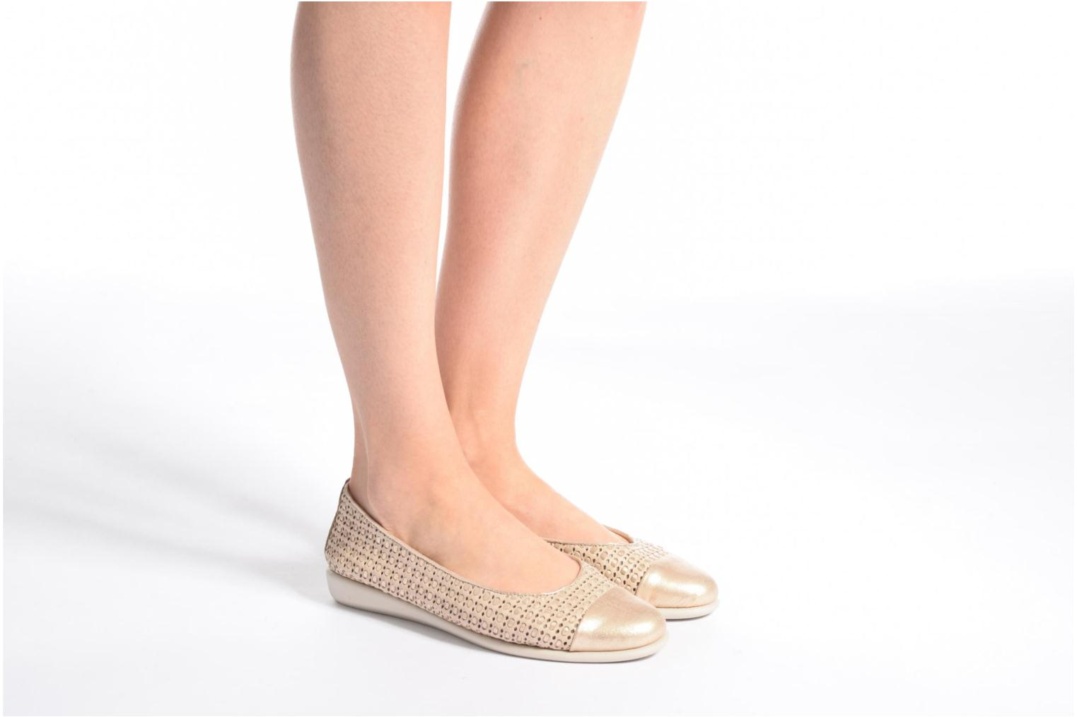 Ballet pumps The Flexx Rise a Smile White view from underneath / model view