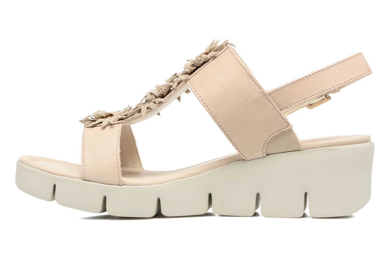 Sandales et nu-pieds The Flexx Emma Beige vue face