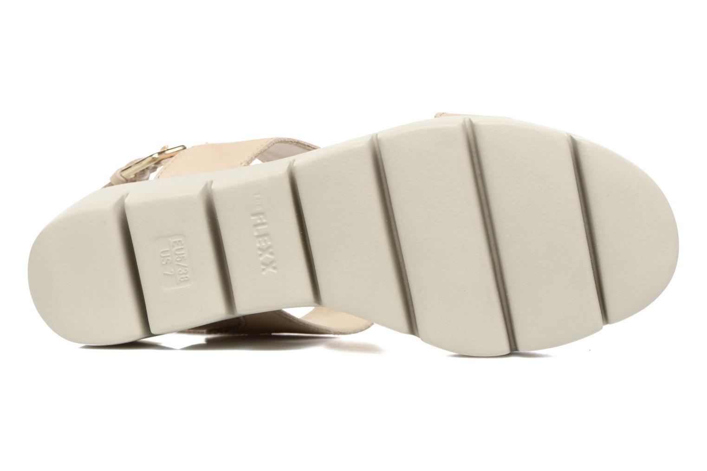 Sandales et nu-pieds The Flexx Emma Beige vue haut