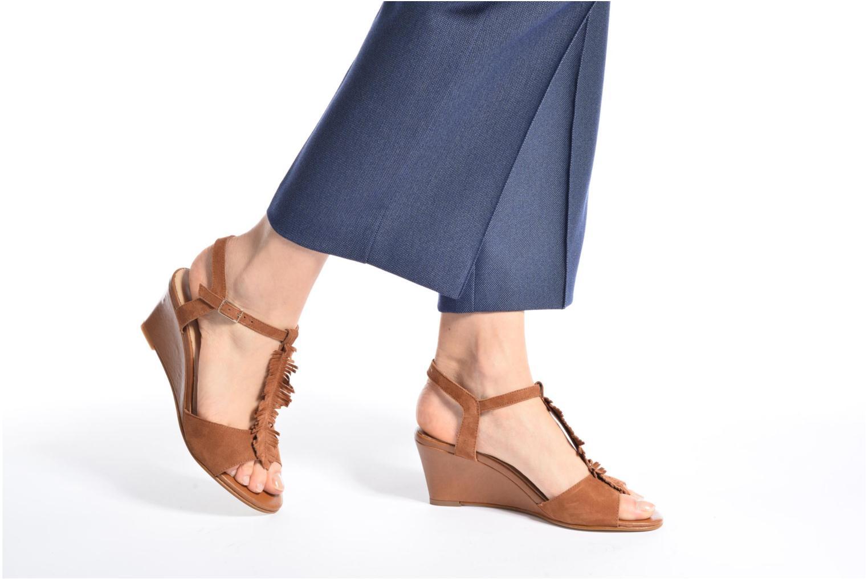 Sandales et nu-pieds Georgia Rose Lilifrange Jaune vue bas / vue portée sac