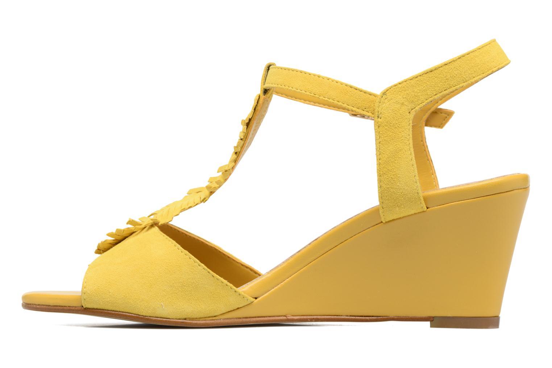 Sandales et nu-pieds Georgia Rose Lilifrange Jaune vue face