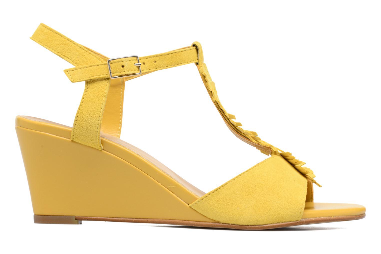 Sandales et nu-pieds Georgia Rose Lilifrange Jaune vue derrière