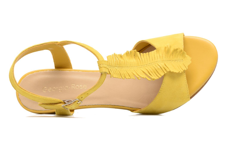 Sandales et nu-pieds Georgia Rose Lilifrange Jaune vue gauche