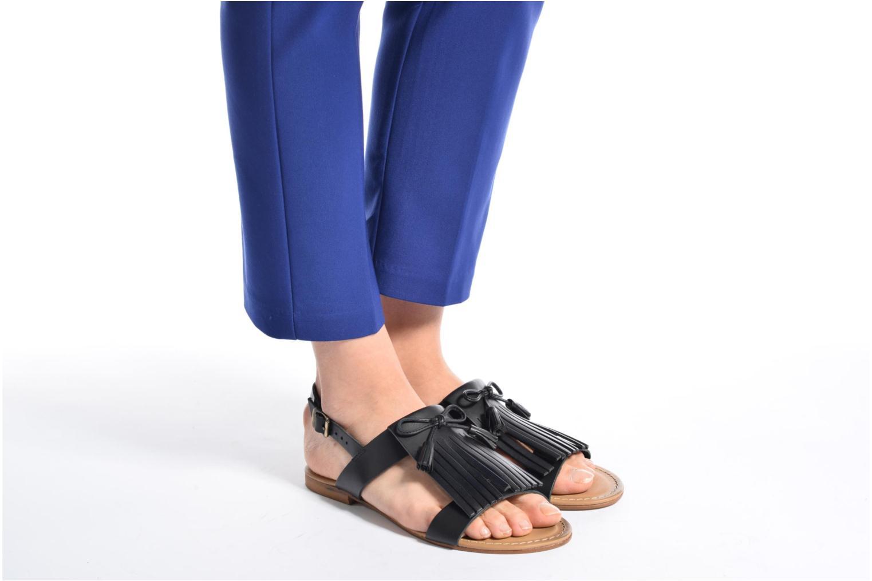 Sandales et nu-pieds Georgia Rose Lupatte Noir vue bas / vue portée sac
