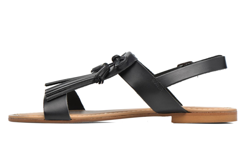 Sandales et nu-pieds Georgia Rose Lupatte Noir vue face