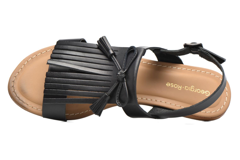 Sandales et nu-pieds Georgia Rose Lupatte Noir vue gauche