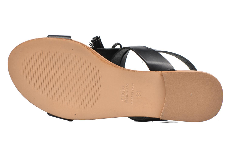 Sandales et nu-pieds Georgia Rose Lupatte Noir vue haut
