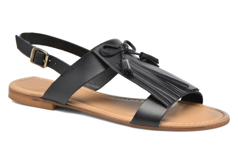 Sandales et nu-pieds Georgia Rose Lupatte Noir vue détail/paire