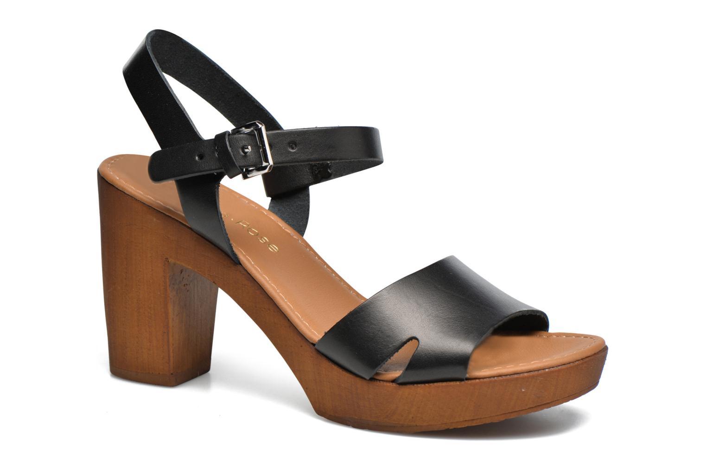 Sandaler Georgia Rose Dobou Sort detaljeret billede af skoene