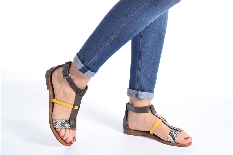 Sandali e scarpe aperte Georgia Rose Dolion Marrone immagine dal basso