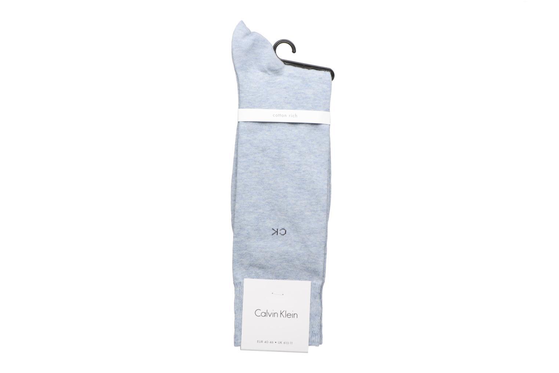 Chaussettes et collants Calvin Klein Chaussettes MUTI STRIPE GIFT BOX Pack de 3 Coton Bleu vue portées chaussures