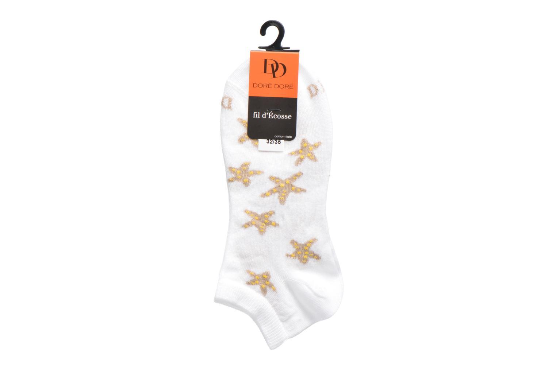 Sokken en panty's Doré Doré Chaussettes Sneakers Etoiles Wit achterkant