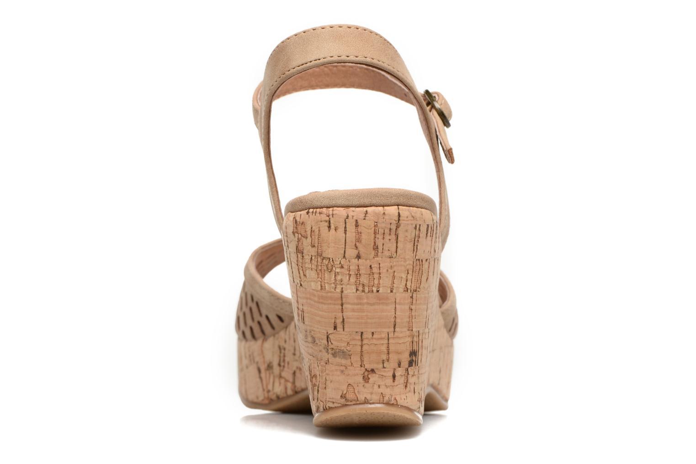 Sandales et nu-pieds Les P'tites Bombes Etoile Beige vue droite