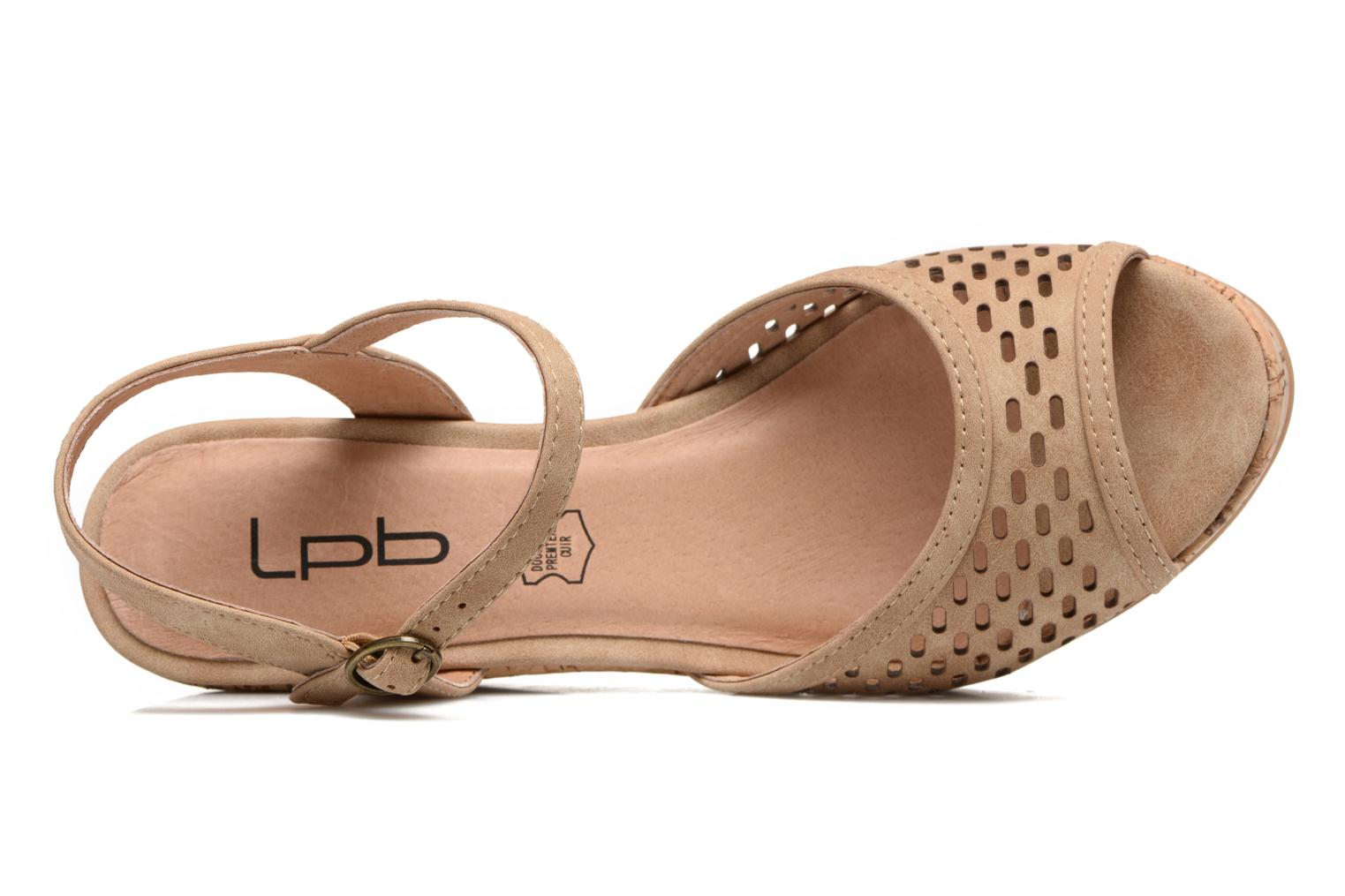 Sandals Les P'tites Bombes Etoile Beige view from the left