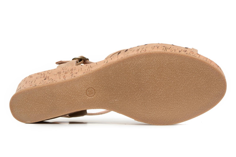 Sandales et nu-pieds Les P'tites Bombes Etoile Beige vue haut