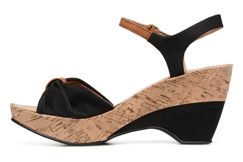 Sandales et nu-pieds Les P'tites Bombes Folk Noir vue face
