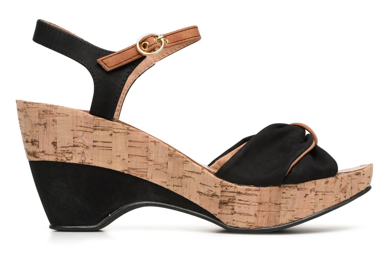 Sandales et nu-pieds Les P'tites Bombes Folk Noir vue derrière