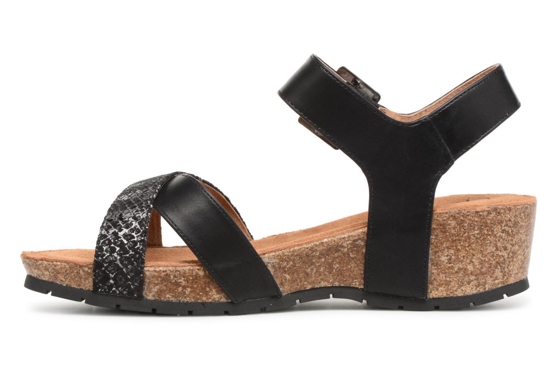 Sandals Les P'tites Bombes Paloma Black front view