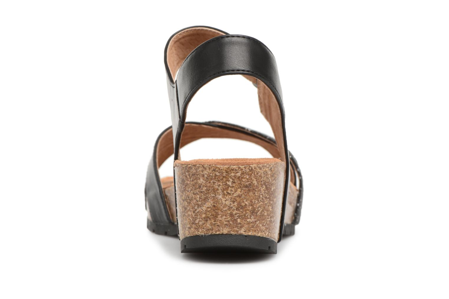 Sandals Les P'tites Bombes Paloma Black view from the right