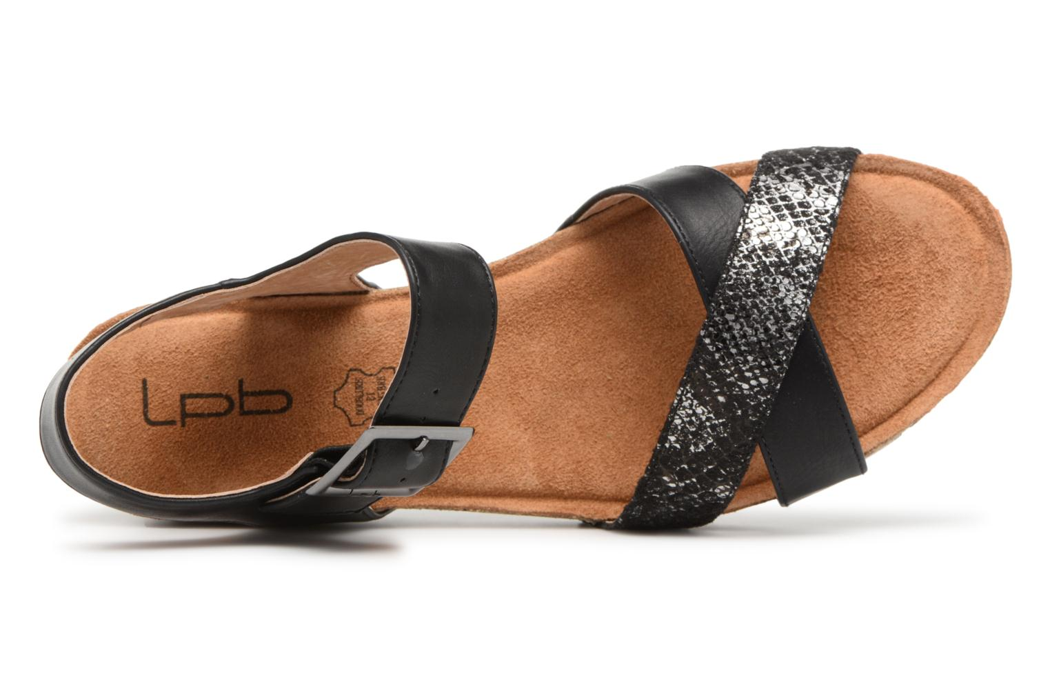 Sandals Les P'tites Bombes Paloma Black view from the left