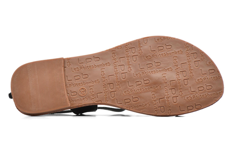 Sandales et nu-pieds Les P'tites Bombes Zhoe Noir vue haut
