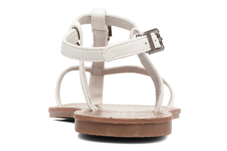 Sandales et nu-pieds Les P'tites Bombes Zhoe Blanc vue droite