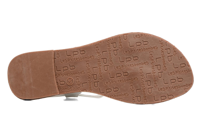 Sandales et nu-pieds Les P'tites Bombes Zhoe Blanc vue haut