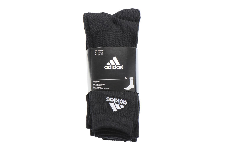 Chaussettes et collants Adidas Performance 3S PER CR HC 6P Noir vue derrière