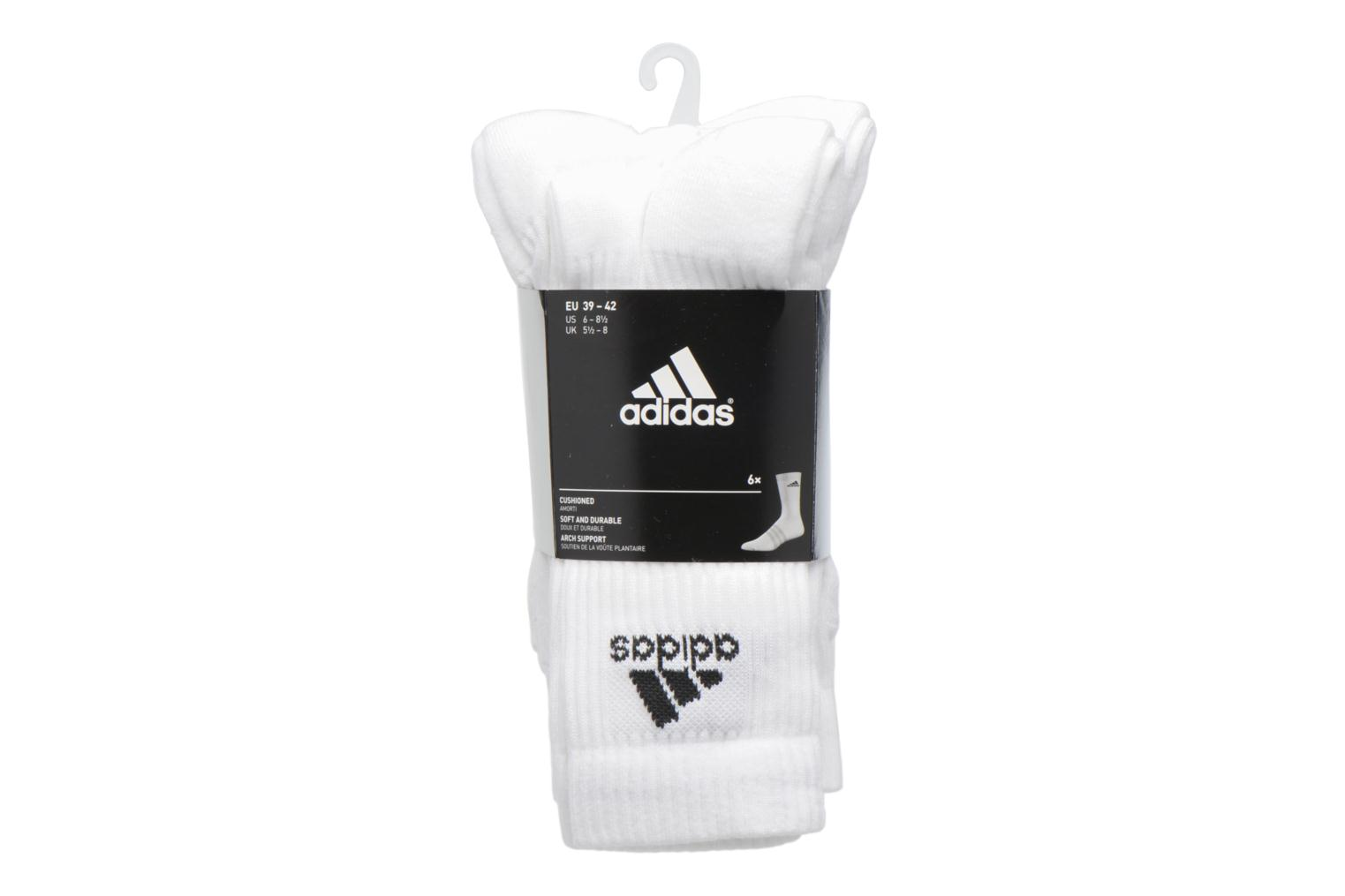 Socks & tights Adidas Performance 3S PER CR HC 6P White back view