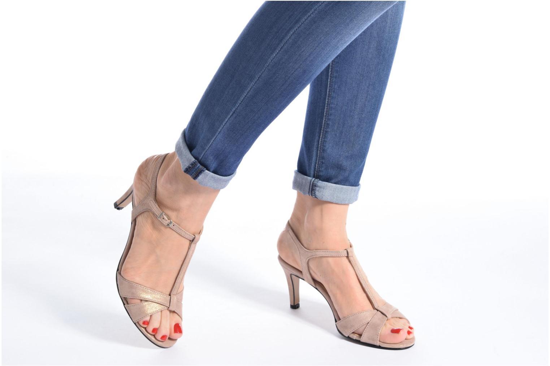 Sandales et nu-pieds Georgia Rose Satine Rose vue bas / vue portée sac