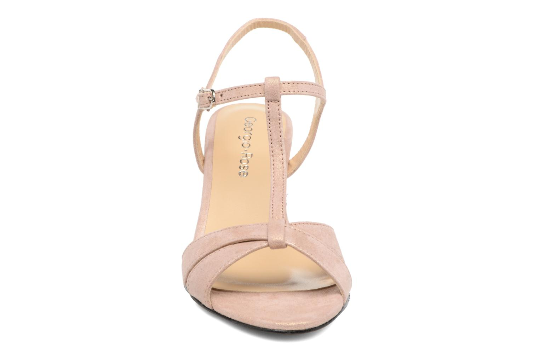 Sandales et nu-pieds Georgia Rose Satine Rose vue portées chaussures