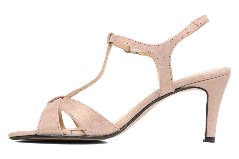 Sandales et nu-pieds Georgia Rose Satine Rose vue face