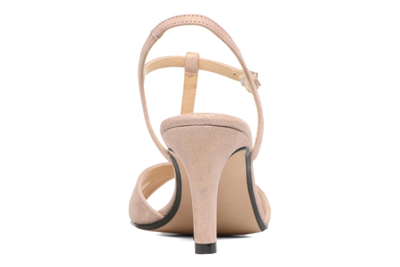 Sandales et nu-pieds Georgia Rose Satine Rose vue droite