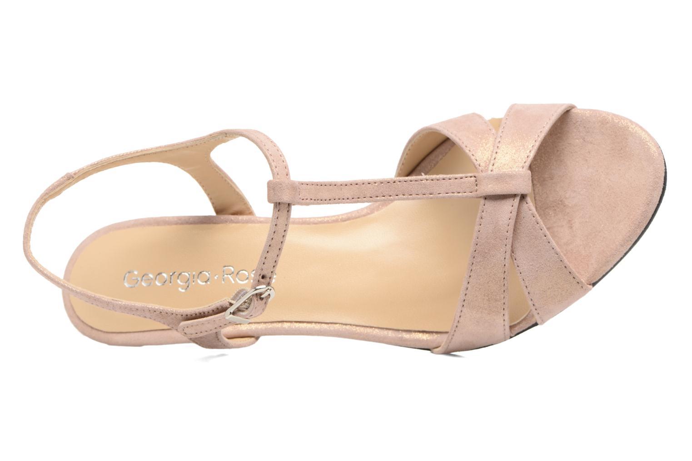 Sandales et nu-pieds Georgia Rose Satine Rose vue gauche