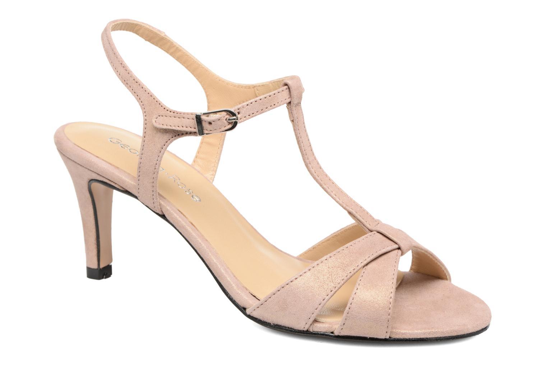 Sandales et nu-pieds Georgia Rose Satine Rose vue détail/paire