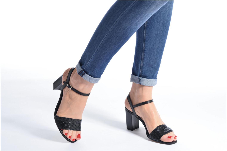 Sandales et nu-pieds Georgia Rose Satresse Rouge vue bas / vue portée sac
