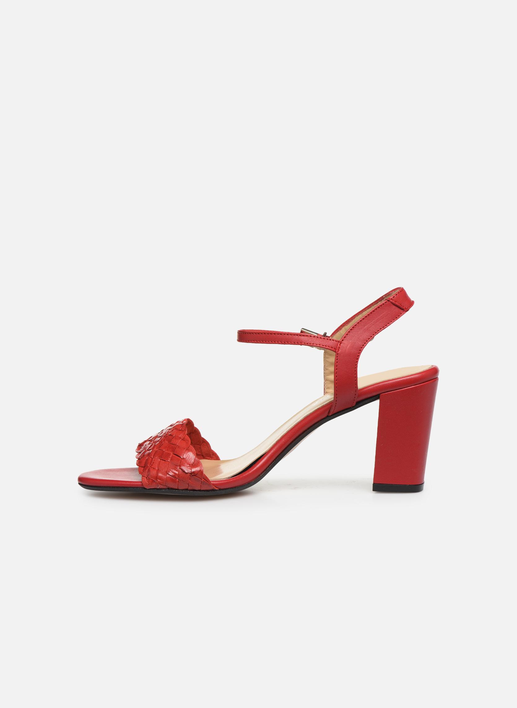 Sandales et nu-pieds Georgia Rose Satresse Rouge vue face